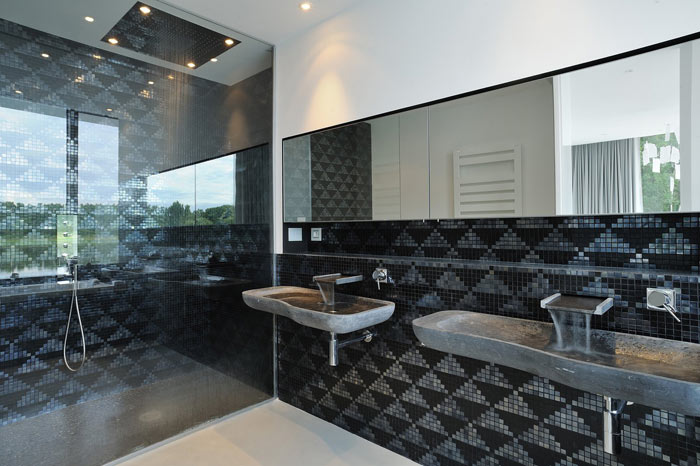 Vasque pierre faience mosaique pour salledebain design