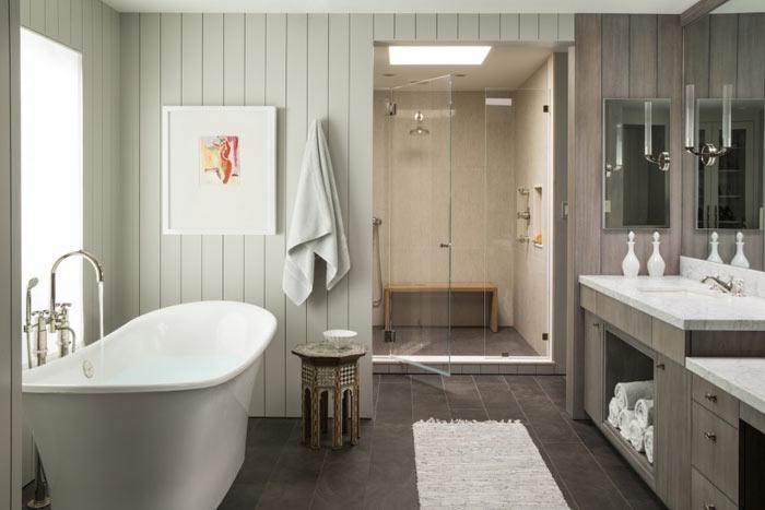 Baignoire autoportee salle de bain moderne