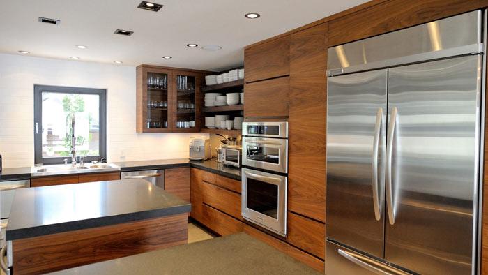 Cuisine moderne bois inox