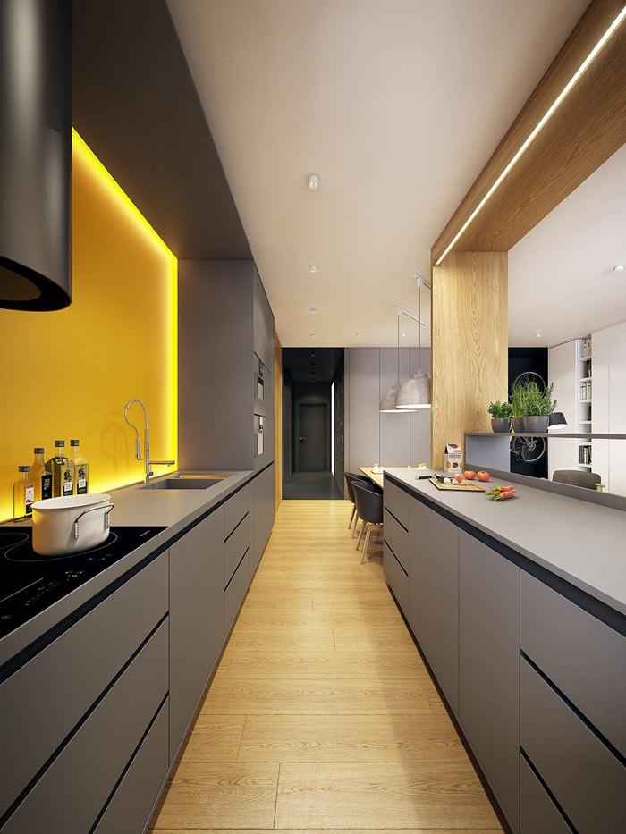 Cuisine moderne couloir