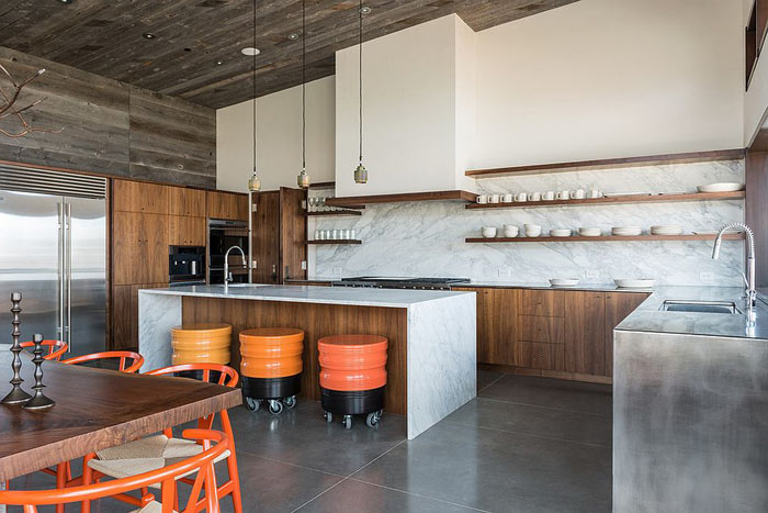Cuisine moderne marbre bois