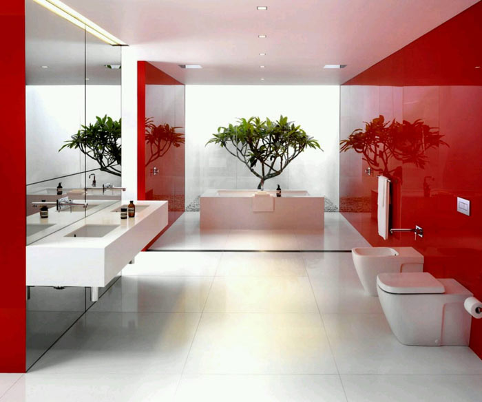 Osez la couleur salle de main moderne