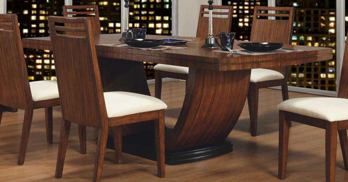 Salle a manger bois table moderne design