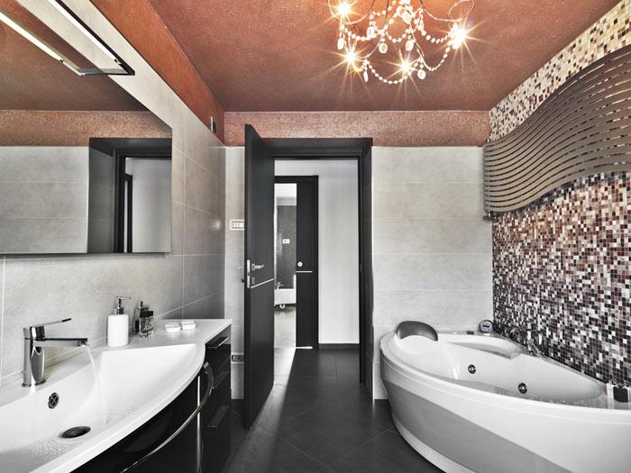 Salle de bain moderne eclectique chic moderne