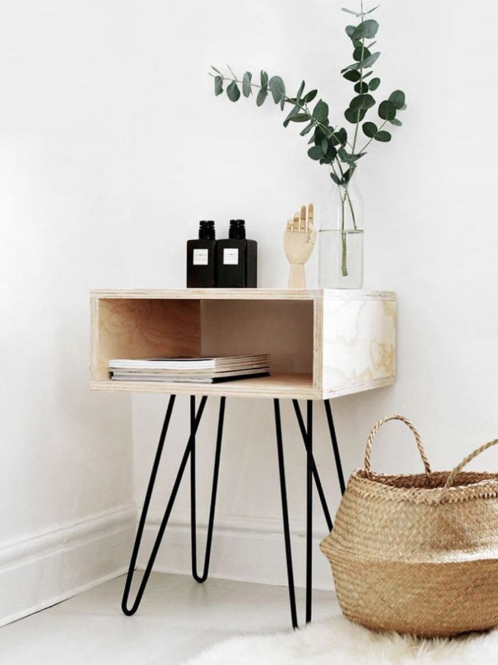 Table de chevet minimaliste
