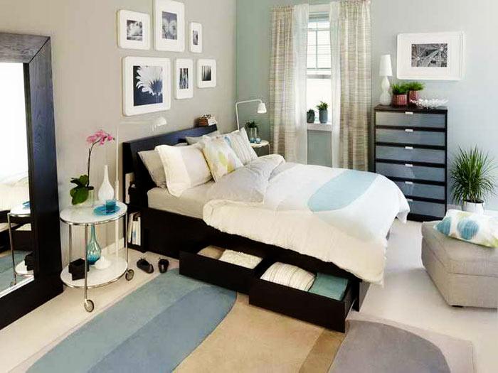 Chambre adulte lit tiroir