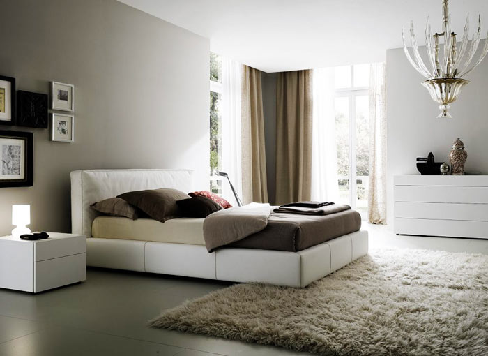 Chambre adulte nuance gris taupe