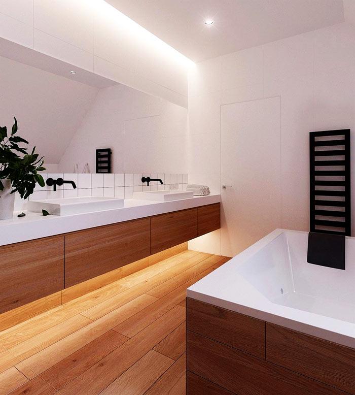 Salle de bain scandinave bois clair