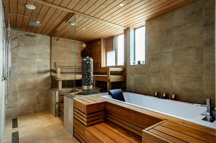 Salle de bain scandinave sauna