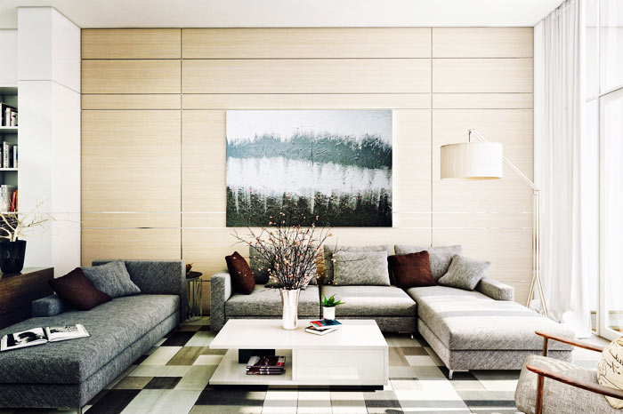 Salon moderne lumineux