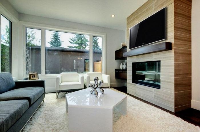 Salon moderne mobilier 2 tons