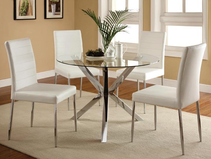 Salle a manger moderne table ronde verre