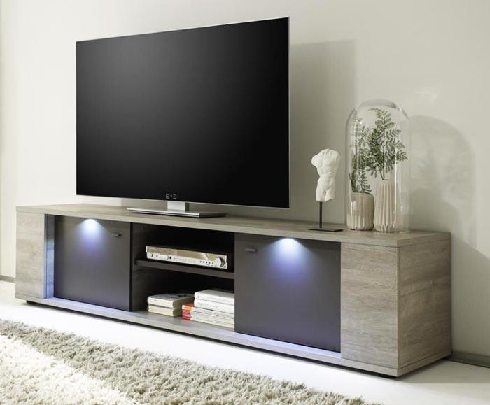 Meuble télé chêne gris