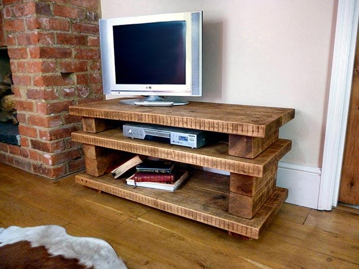 Meuble tv bois fait maison
