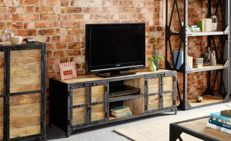 Meuble tv en métal industriel