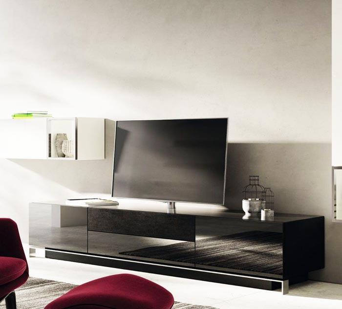 Meuble tv laque